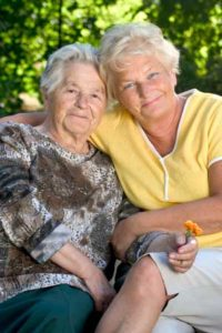 image of mother and daughter - senior living