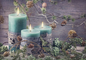 image of holiday candles